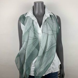 Geometric Lightweight Sheer Square Scarf 40""